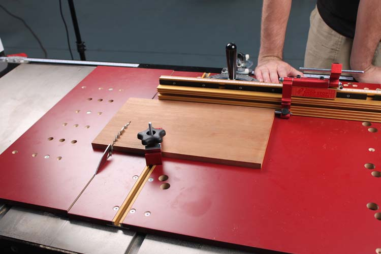 crosscut sled  miter gauge  how about both